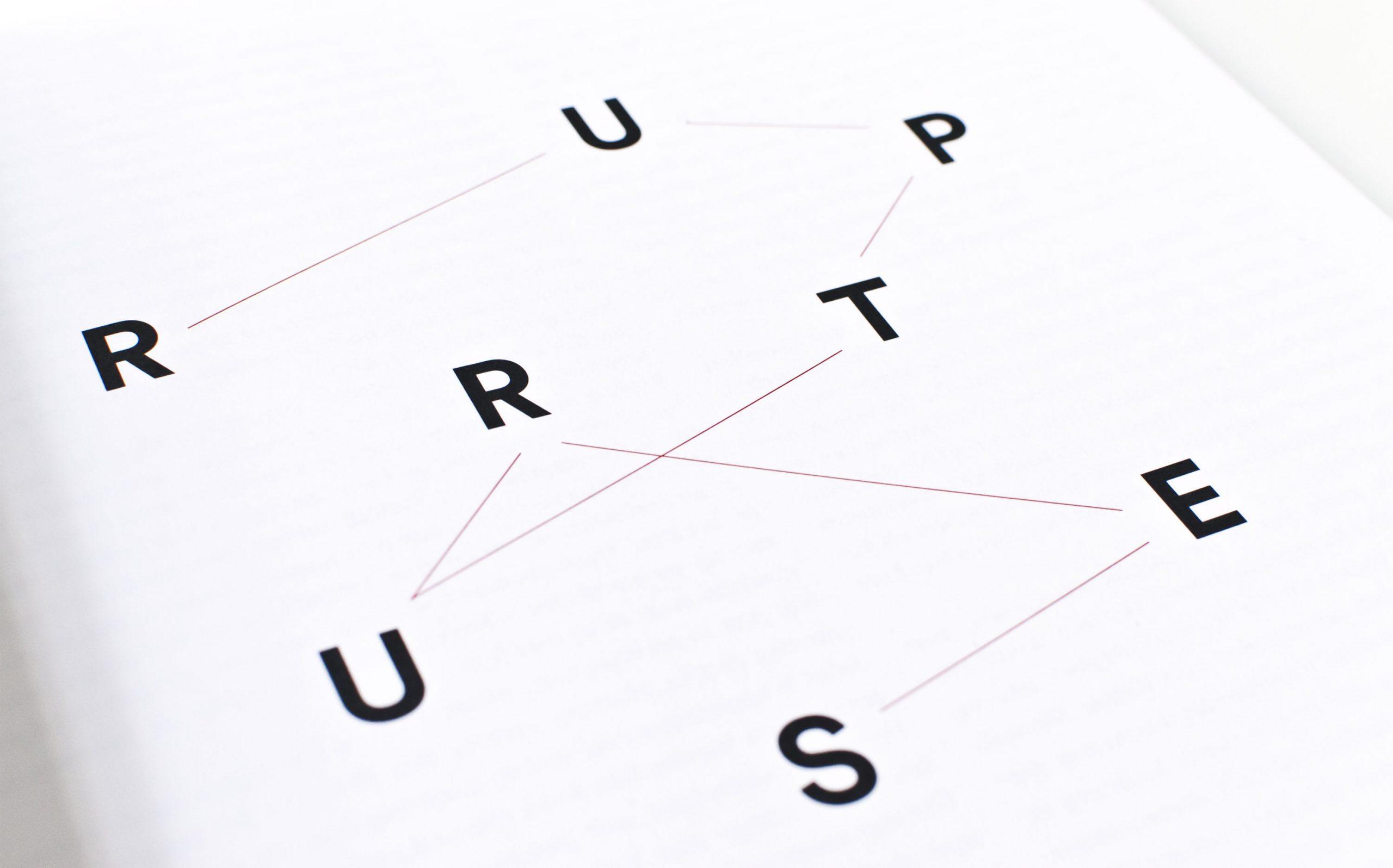 Detail aus Juliana Herrero – REM 1:1 | typografische Inszenierung der Kapitel Opener | Keywords: Editorial Design, Artist Book, Künstlerbuch, Buchgestaltung, Grafikdesign, Design, Typografie