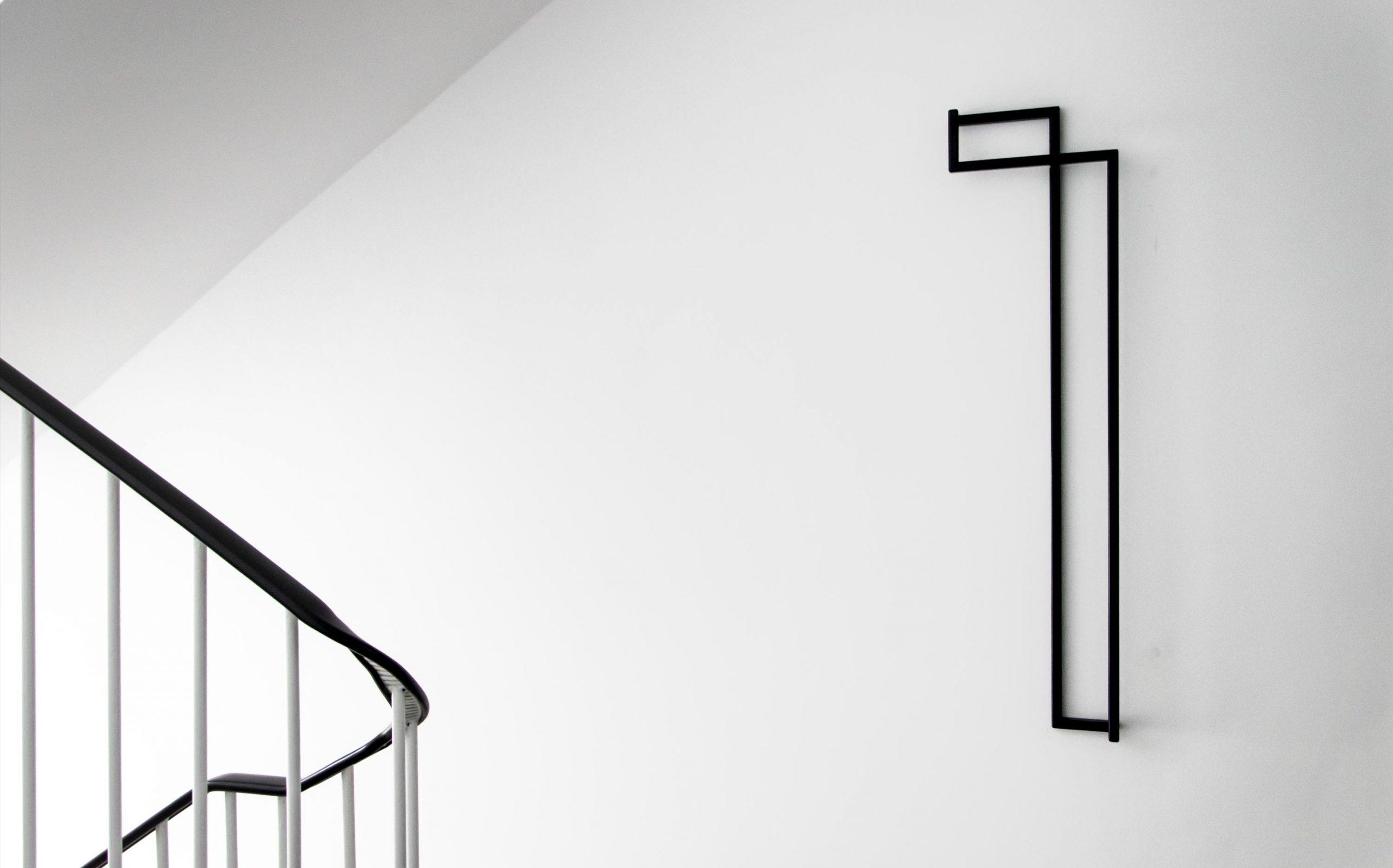 Etagenkennzeichnung für das Rechenzentrum der Finanzverwaltung des Landes Nordrhein-Westfalen | Etagenziffer OG1 | Keywords: Etagenkennzeichnung, Signaletik, Leitsystem, Orientierungssystem, Design, Grafikdesign, Typografie