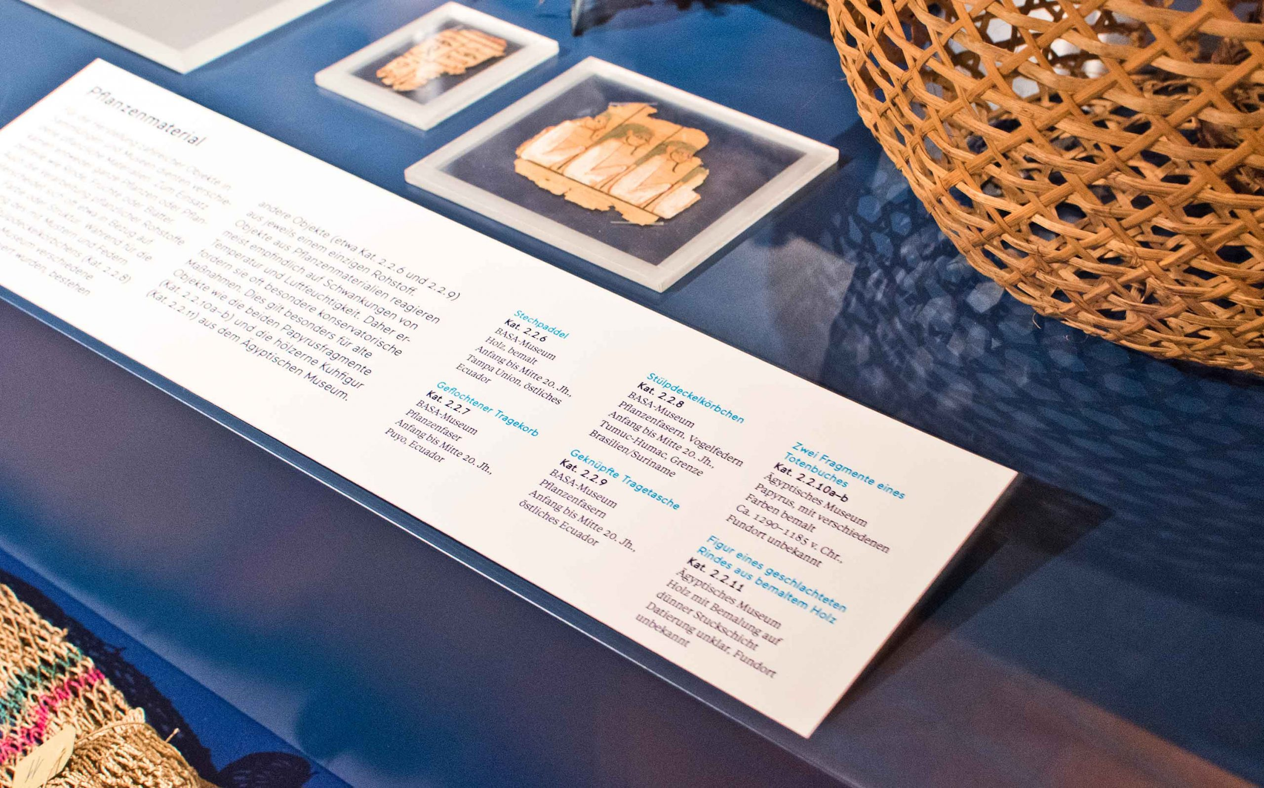 Ausstellungsgestaltung der Sonderausstellung »Objektwelten als Kosmos« im Museum Koenig Bonn   Exponatbeschriftung   Keywords: Ausstellungsgestaltung, Exhibition Design, Spatial Design, Banner, Typografie, Contemporary Design